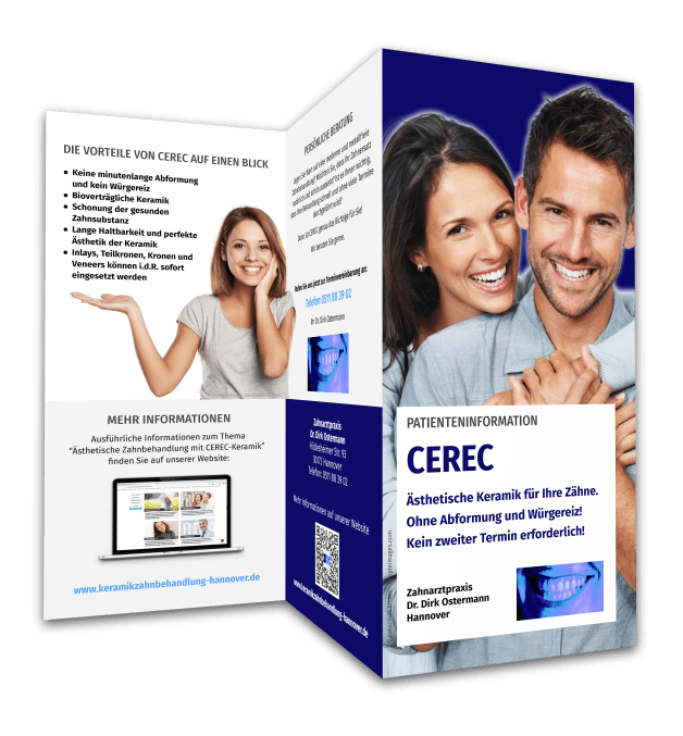 Download Flyer Cerec Hannover, Zahnarztpraxis Dr. Dirk Ostermann